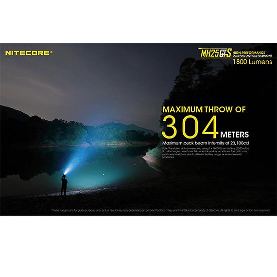 Linterna LED Nitecore 1800 lúmenes Recargable USB MH25GTS- Image 20
