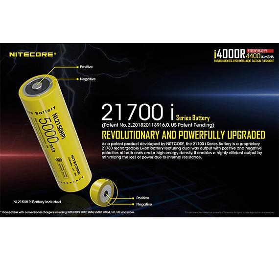 Linterna LED Nitecore 4400 lúmenes Recargable USB i4000R- Image 7