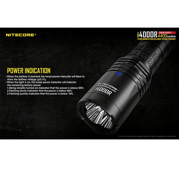 Linterna LED Nitecore 4400 lúmenes Recargable USB i4000R- Image 14