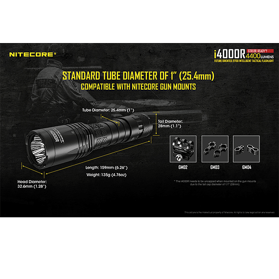 Linterna LED Nitecore 4400 lúmenes Recargable USB i4000R- Image 22