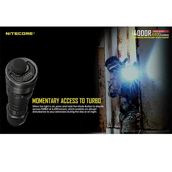 Linterna LED Nitecore 4400 lúmenes Recargable USB i4000R- Image 23