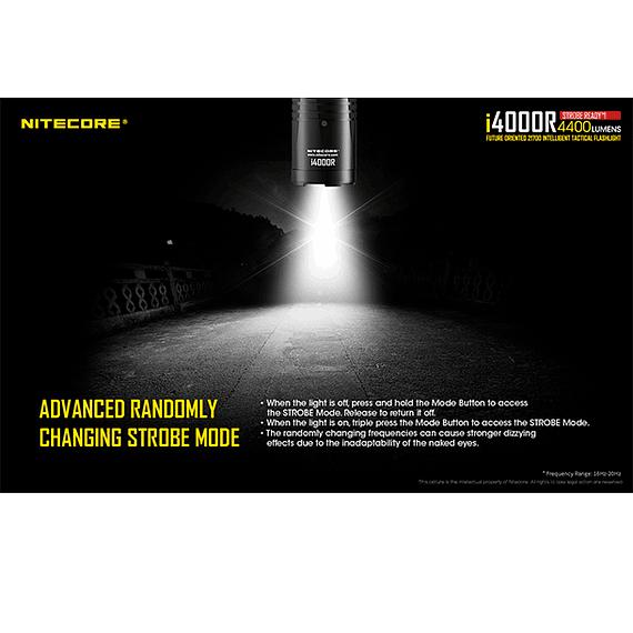 Linterna LED Nitecore 4400 lúmenes Recargable USB i4000R- Image 24