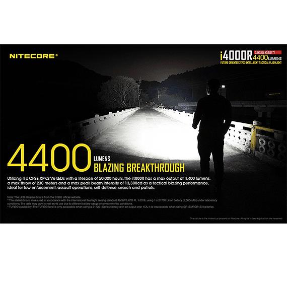 Linterna LED Nitecore 4400 lúmenes Recargable USB i4000R- Image 25