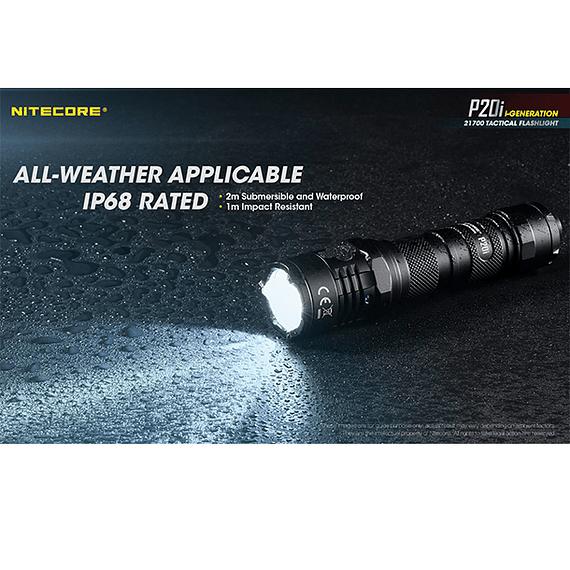 Linterna LED Nitecore 1800 lúmenes Recargable USB P20i- Image 8
