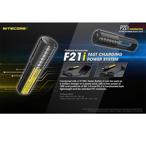 Linterna LED Nitecore 1800 lúmenes Recargable USB P20i- Image 9