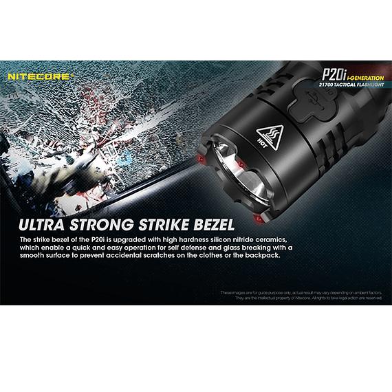 Linterna LED Nitecore 1800 lúmenes Recargable USB P20i- Image 18