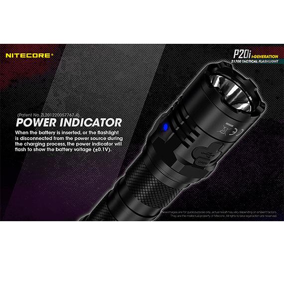 Linterna LED Nitecore 1800 lúmenes Recargable USB P20i- Image 20