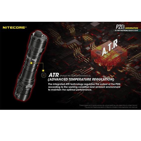 Linterna LED Nitecore 1800 lúmenes Recargable USB P20i- Image 21