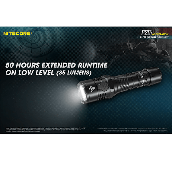 Linterna LED Nitecore 1800 lúmenes Recargable USB P20i- Image 22