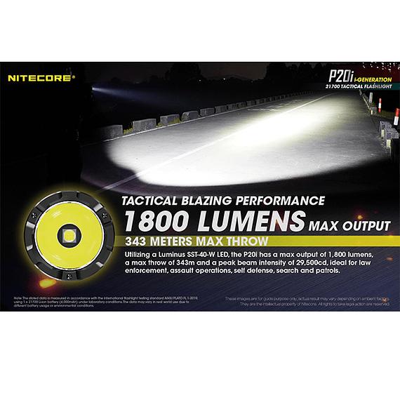 Linterna LED Nitecore 1800 lúmenes Recargable USB P20i- Image 29