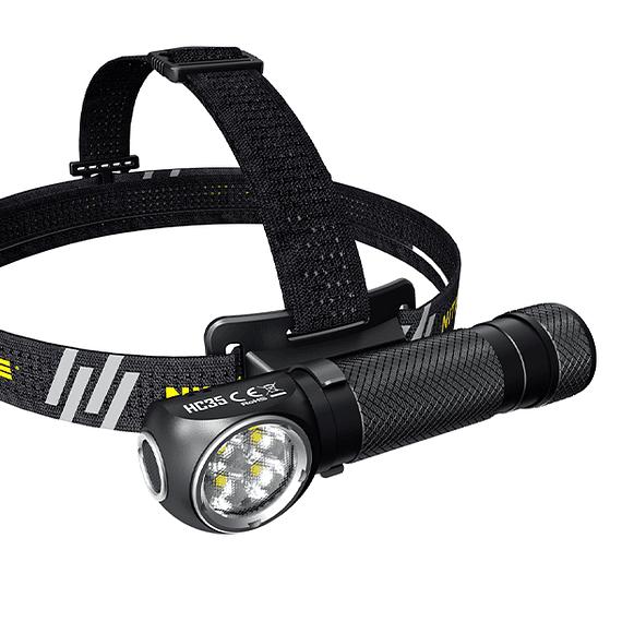 Linterna Frontal LED Nitecore 2700 lúmenes Recargable USB HC35- Image 3
