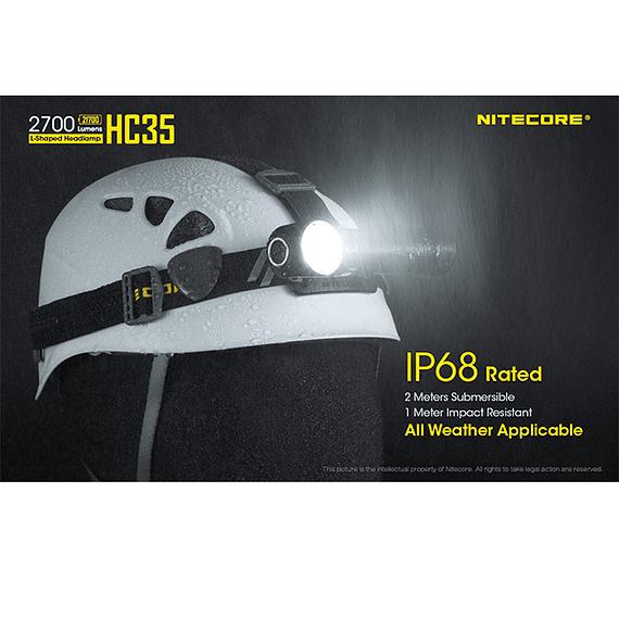 Linterna Frontal LED Nitecore 2700 lúmenes Recargable USB HC35- Image 9