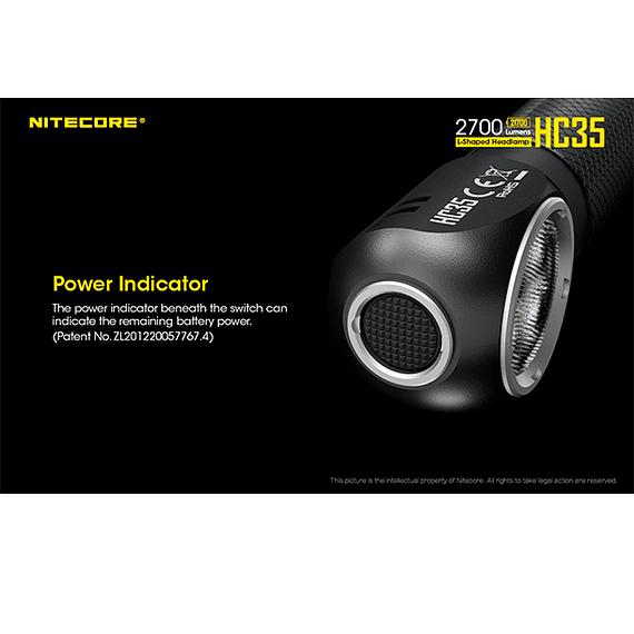 Linterna Frontal LED Nitecore 2700 lúmenes Recargable USB HC35- Image 10