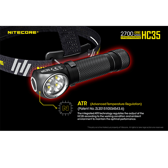 Linterna Frontal LED Nitecore 2700 lúmenes Recargable USB HC35- Image 11