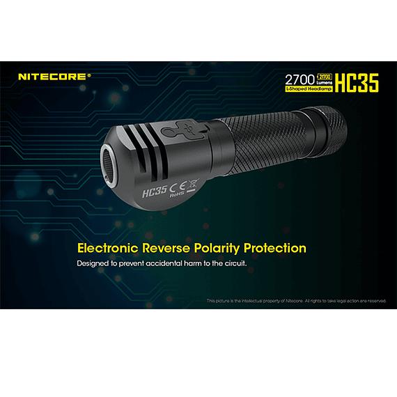 Linterna Frontal LED Nitecore 2700 lúmenes Recargable USB HC35- Image 12