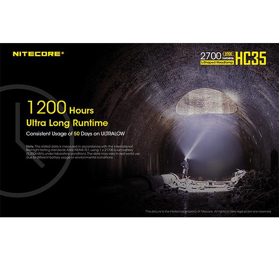 Linterna Frontal LED Nitecore 2700 lúmenes Recargable USB HC35- Image 19
