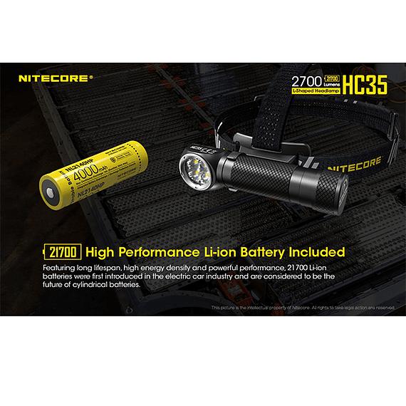 Linterna Frontal LED Nitecore 2700 lúmenes Recargable USB HC35- Image 22