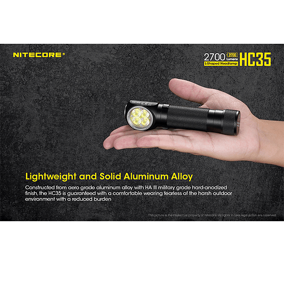 Linterna Frontal LED Nitecore 2700 lúmenes Recargable USB HC35- Image 23