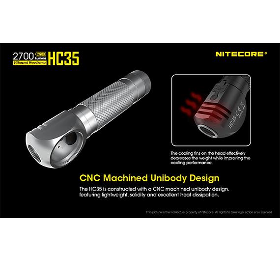 Linterna Frontal LED Nitecore 2700 lúmenes Recargable USB HC35- Image 24