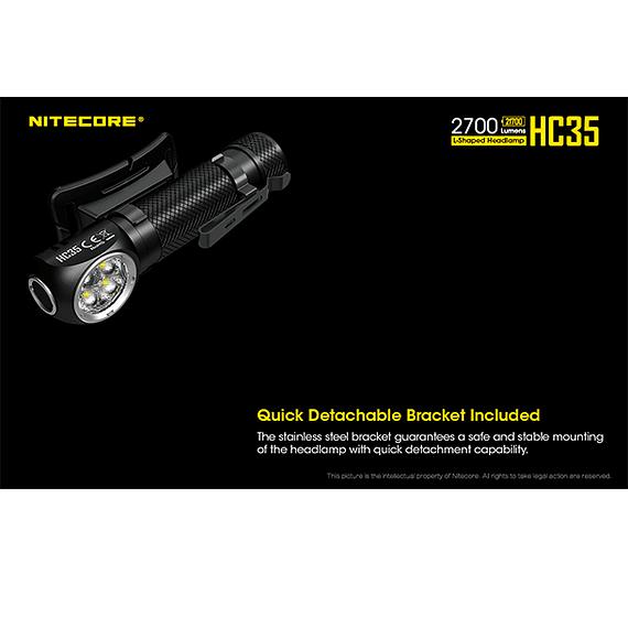 Linterna Frontal LED Nitecore 2700 lúmenes Recargable USB HC35- Image 26