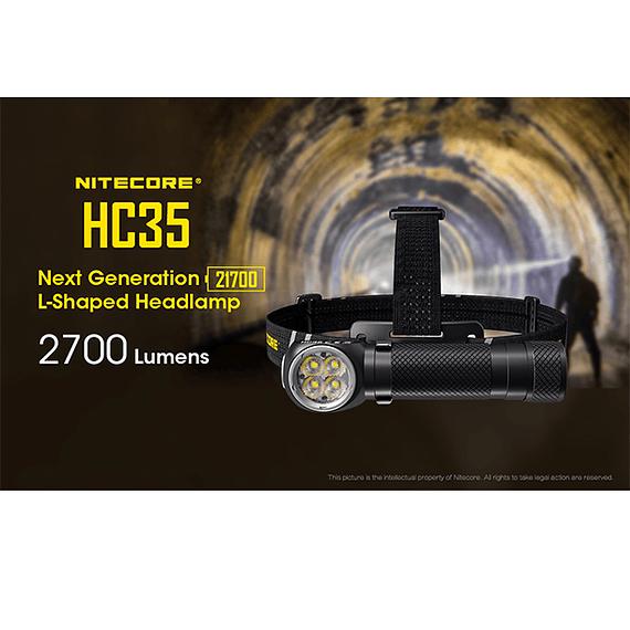 Linterna Frontal LED Nitecore 2700 lúmenes Recargable USB HC35- Image 29
