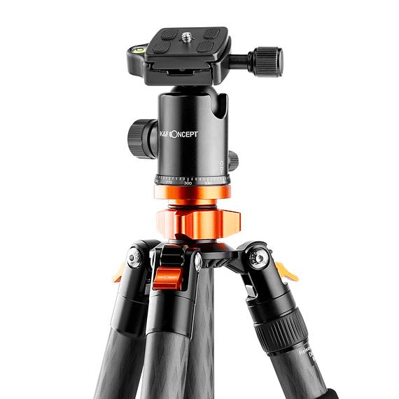 Trípode Carbono K&F Concept con Cabezal 4 Sec. SA284C1- Image 4