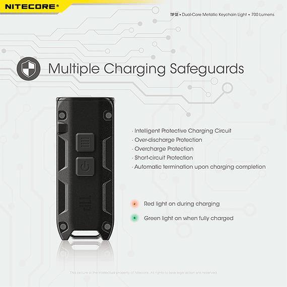 Linterna Compacta LED Nitecore 700 lúmenes Recargable USB TIP SE Gris- Image 19