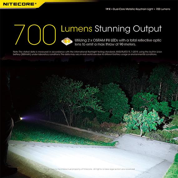 Linterna Compacta LED Nitecore 700 lúmenes Recargable USB TIP SE Gris- Image 23