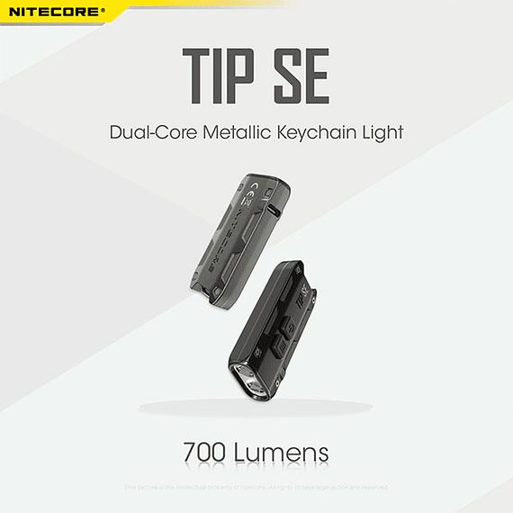 Linterna Compacta LED Nitecore 700 lúmenes Recargable USB TIP SE Gris- Image 25