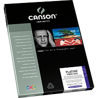 Papel Fotográfico Canson Platine Fibre Rag 310 grs. 25 Hojas Tamaños