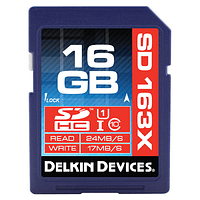 Tarjeta Memoria 16GB SDHC 163X Delkin Devices