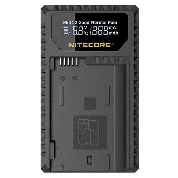 Cargador Nitecore UCN1 Dual-Slot USB para Canon LP-E6N y LP-E8- Image 1