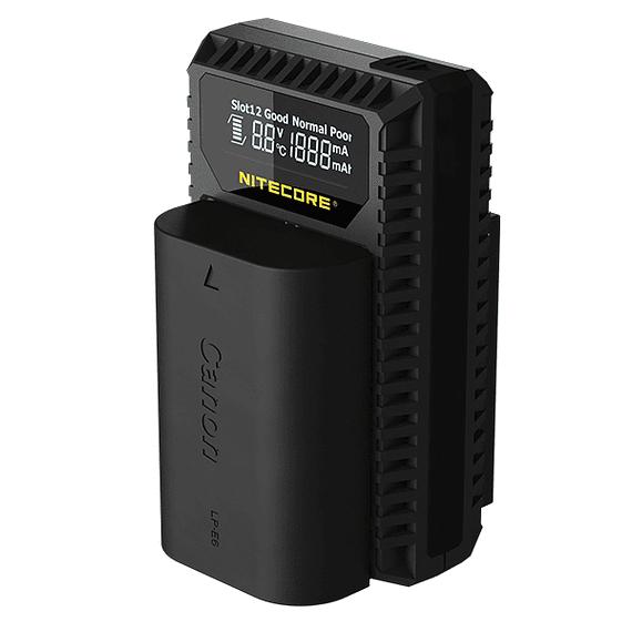 Cargador Nitecore Dual-Slot USB para Canon- Image 2