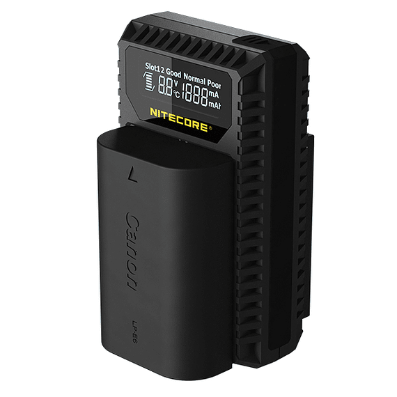 Cargador Nitecore UCN1 Dual-Slot USB para Canon- Image 2