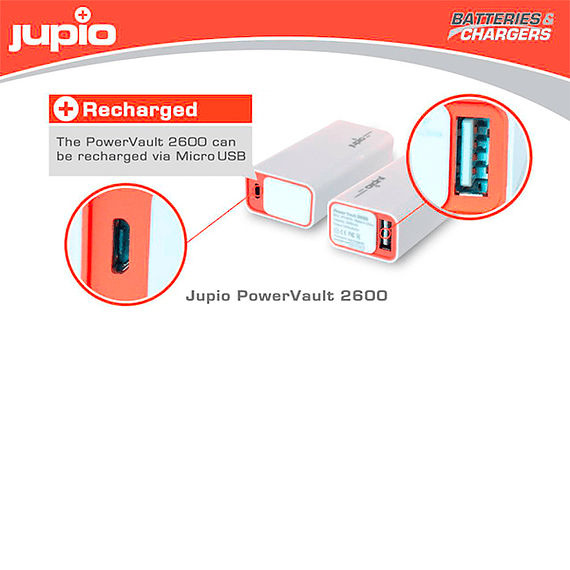 Batería Externa Jupio PowerVault 2600 mAh- Image 2