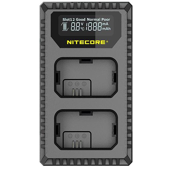 Cargador Nitecore Dual-Slot USB para Sony- Image 1