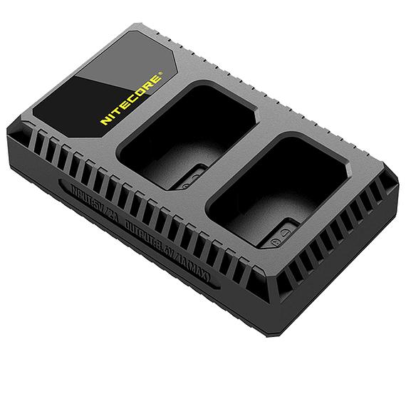 Cargador Nitecore USN1 Dual-Slot USB para Sony NP-FW50- Image 2
