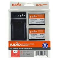 Batería Reemplazo Jupio para Canon LP-E10 Kit 2x con Cargador USB
