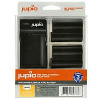 Batería Reemplazo Jupio para Nikon EN-EL15 Kit 2x con Cargador USB