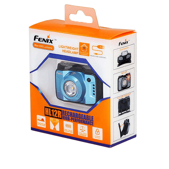 Linterna Frontal Fenix LED 400 lúmenes Recargable USB HL12R Gris- Image 2