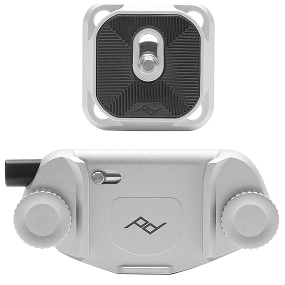 Clip Capture V3 Peak Design con Standard Plate Plateado- Image 1