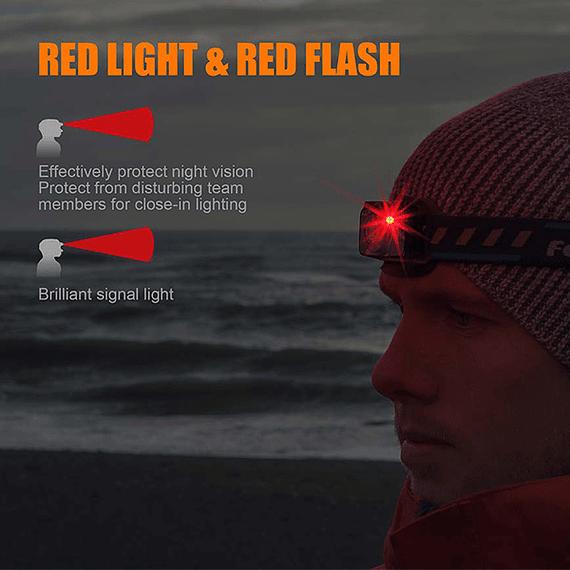 Linterna Frontal Fenix LED 400 lúmenes Recargable USB HL12R Púrpura- Image 4