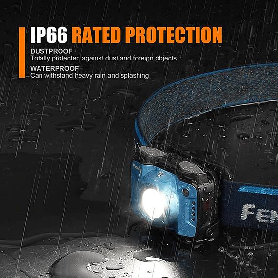 Linterna Frontal Fenix LED 400 lúmenes Recargable USB HL12R Púrpura- Image 5