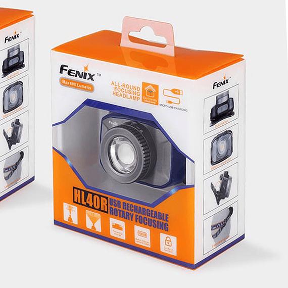 Linterna Frontal Fenix LED 600 lúmenes Recargable USB HL40R Negro- Image 6