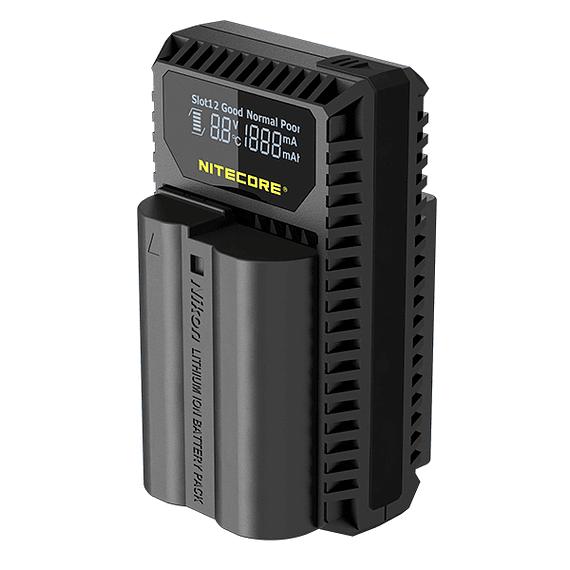 Cargador Nitecore UNK1 Dual-Slot USB para Nikon EN-EL14 y EN-EL15- Image 4