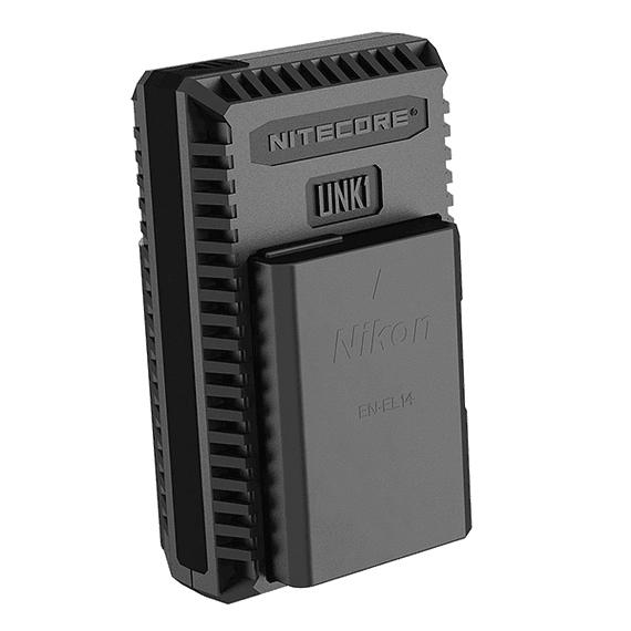 Cargador Nitecore UNK1 Dual-Slot USB para Nikon EN-EL14 y EN-EL15- Image 5