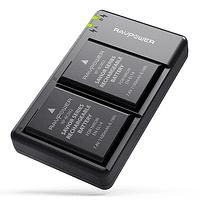 Batería Reemplazo RAVPower Nikon EN-EL14a Kit 2x con Cargador USB
