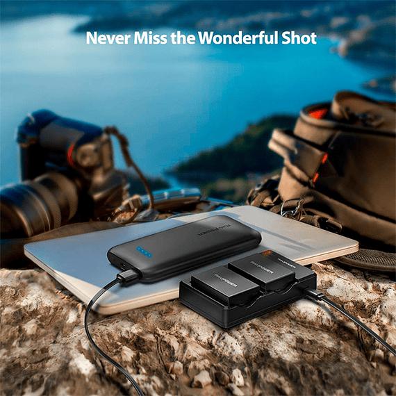 Batería Reemplazo RAVPower Canon LP-E8 Kit 2x con Cargador USB- Image 9