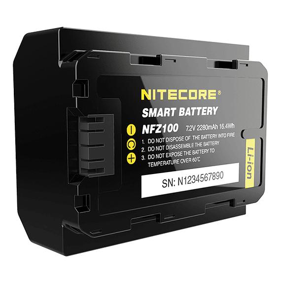 Batería Reemplazo Nitecore Sony NFZ100 con Bluetooth- Image 2