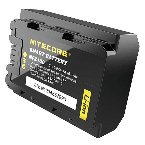 Batería Reemplazo Nitecore Sony NFZ100 con Bluetooth- Image 1